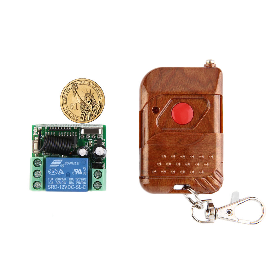 Remote Control Switch Transmitter Receiver Dc 12v 10a Relay 1ch Infrared Circuit System