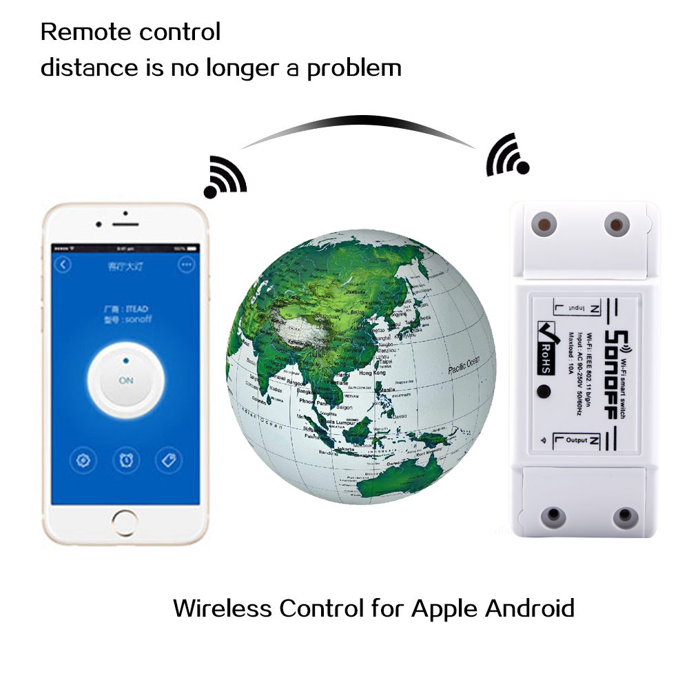 Sonoff Diy Smart Home Wifi Wireless Switch For Apple Android Light Switches Require No Wiring Gizmodo Australia Application